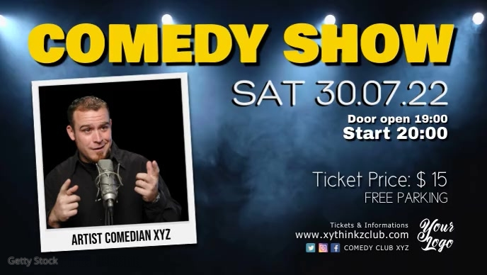 Stand up Comedy Night Show Video Event Stage template