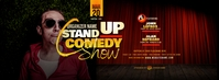 Stand Up Comedy Show Facebook Cover Photo template