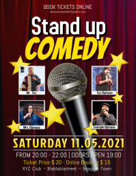 150 customizable design templates for comedy flyer postermywall