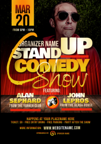 Stand Up Comedy Show Flyer A4 template