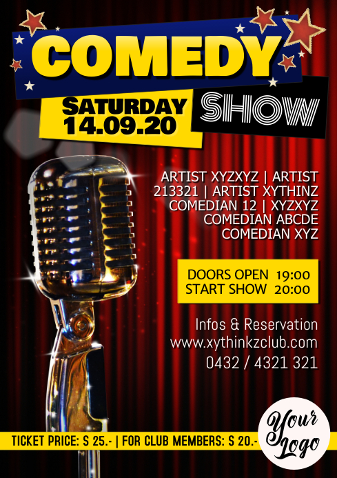 Stand up Comedy Show Flyer Poster