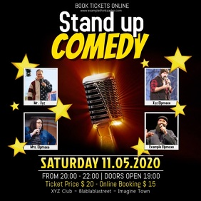 Stand up Comedy Video Event Facebook Instagram Post