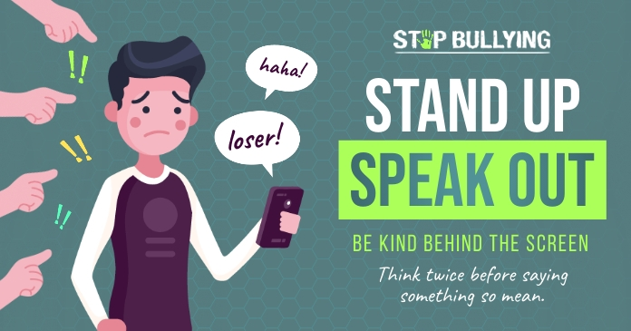 Stand up Speak out Facebook shared image template