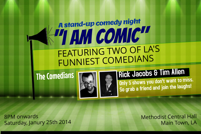 Standup Comedy Event Flyer Template