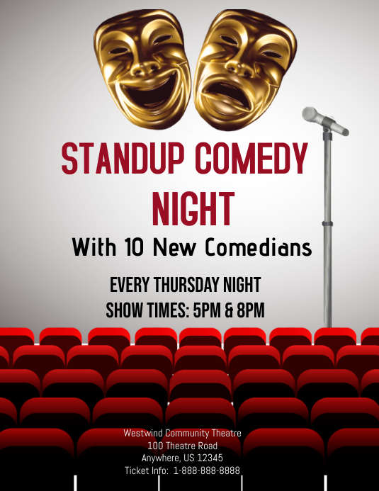 Standup Comedy Night Template | PosterMyWall