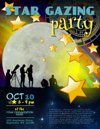 Star Gazing Moonlight Walk Flyer Template