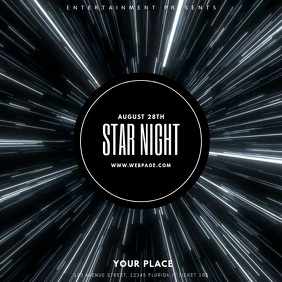 star night party flyer template