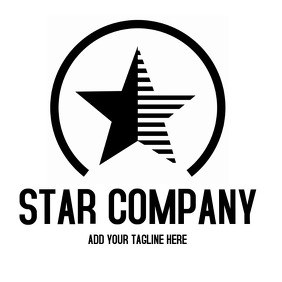 Star vintage logo black and white template