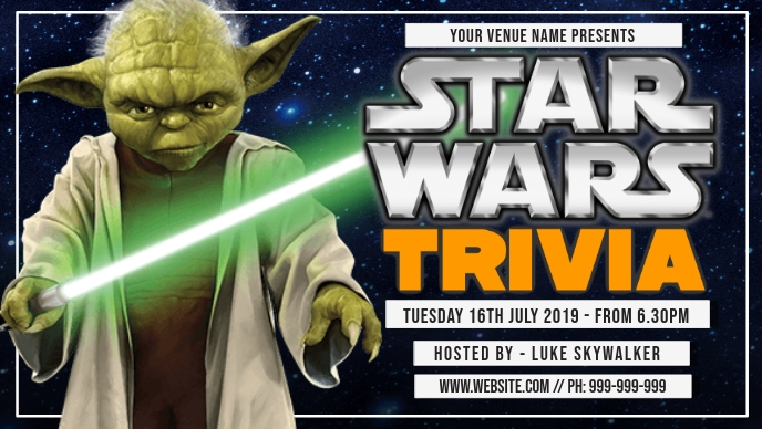 Star Wars Trivia Facebook Cover Facebook-covervideo (16:9) template