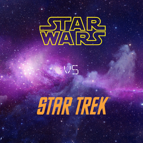 Star Wars Vs Star Trek Instagram Post