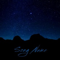 Stargazing night sky album cover video template