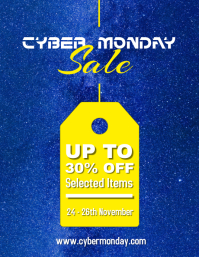 Starry Cyber Monday Sale Flyer