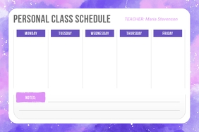 Starry Themed Personal Class Schedule Poster