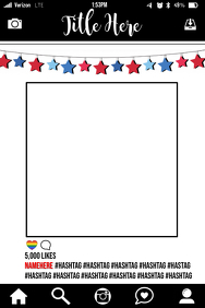 Stars Party Prop Frame