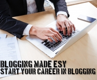 START CAREER IN BLOGGING Mellemstort rektangel template