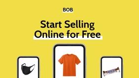 Start Selling Online Ad Template Video Sampul Facebook (16:9)