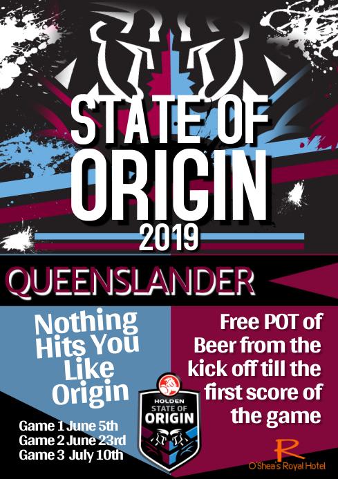 State of Origin A1 template