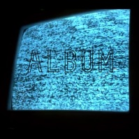 Static TV creepy album cover video Albumhoes template