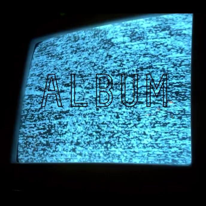 Static TV creepy album cover video template