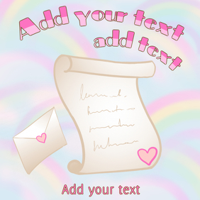 stationary paper letter - loveletter with pink heart sticker
