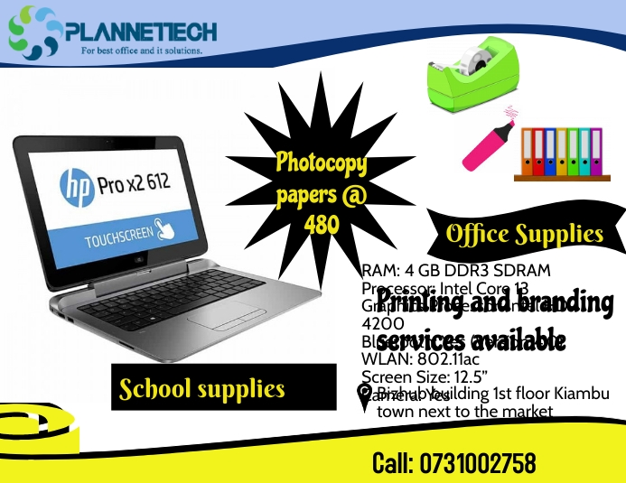 Stationery supplies Pamflet (Letter AS) template