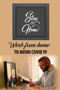 STAY AT HOME P0STER Poster template