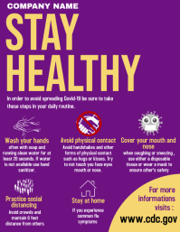 stay healthy flyer advertisement coronavirus