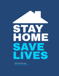 Stay Home, Save Lives Flyer Template