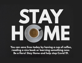 Stay Home #stayhome coffee flyer facebook ad