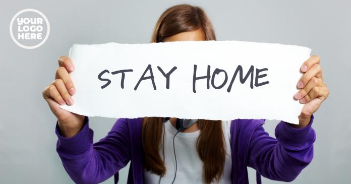 Stay Home #stayhome coronavirus facebook post