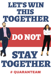 Stay home and avoid gatherings poster