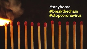 Stay home coronavirus facebook cover