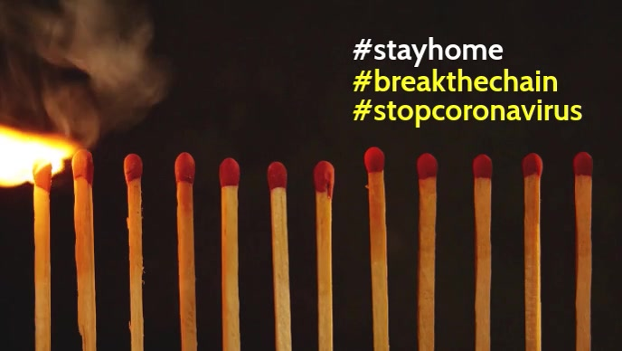 Stay home coronavirus facebook cover template
