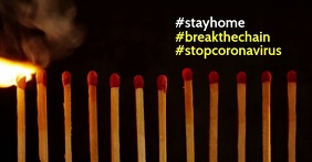 Stay home coronavirus facebook post
