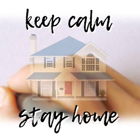 Stay Home Covid-19 Quote Instagram Template