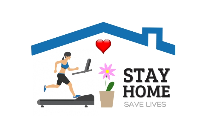 Stay Home Banner 4' × 6' template