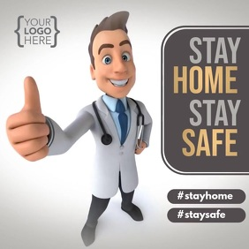 Stay Home Doctor Message Instagram template