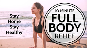 Stay Home Healthy Yoga Youtube Thumbnail template