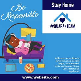 Stay home instagram post design template