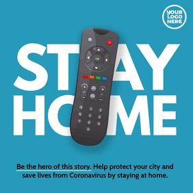 Stay Home Instagram Post Remote TV Control ad