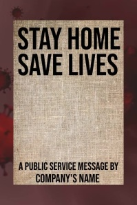 Stay home Poster Template