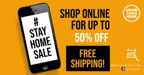 Stay Home sale #stayhome facebook square ad