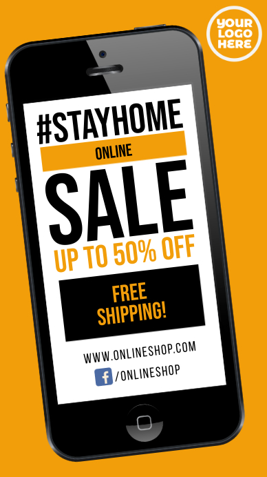 Stay Home sale #stayhome instagram story ad template