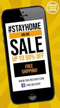 Stay Home sale #stayhome instagram video ad