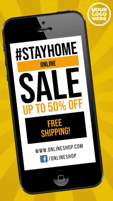 Stay Home sale #stayhome instagram video ad template