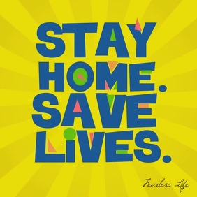 Stay Home Save Lives Animated Instagram Post