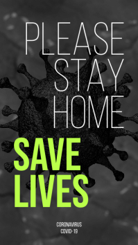 Stay Home Save Lives Instagram Story