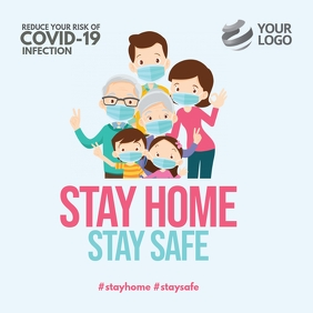 Stay Home Stay Safe Covid-19 Instagram Instagram-bericht template