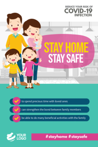 Stay Home Stay Safe Covid-19 Poster