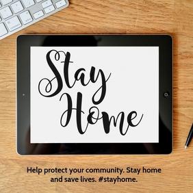 Stay Home Tablet Instagram Post Coronavirus